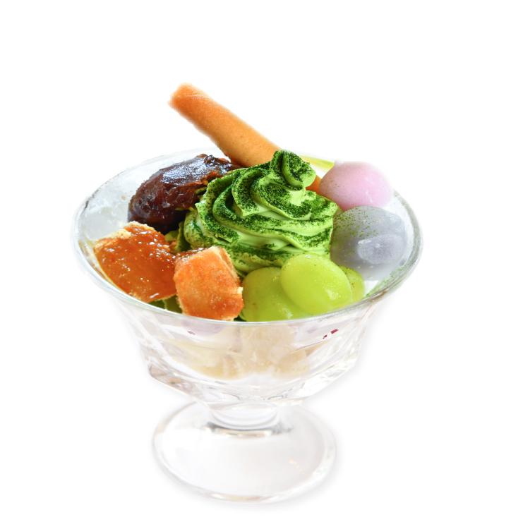 彩り和菓子と抹茶ソフトサンデー